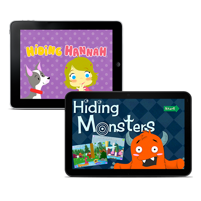 Hiding Hannah & Hiding Monster interactive children's books